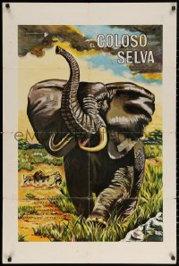 3t0079 AFRICAN ELEPHANT South American 1971 great artwork, still the king of the uncaged world!