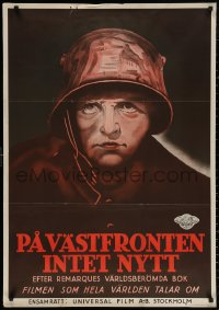 3t0037 ALL QUIET ON THE WESTERN FRONT Swedish 1930 Walter Rogers in a story of blood, guts and tears