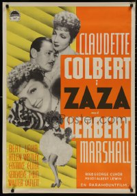 3t0041 ZAZA Swedish 1939 different images of sexy singer Claudette Colbert & Herbert Marshall!