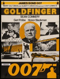 3t0044 GOLDFINGER Swiss R1970s cool different image of Sean Connery as James Bond 007!