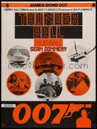 3t0046 THUNDERBALL Swiss R1970s Sean Connery as secret agent James Bond 007, different images!