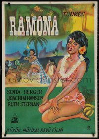 3t0005 RAMONA Turkish 1961 Paul Martin, completely different art of sexy dancers by Yenigun!