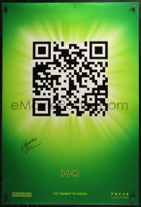 3y0006 9 signed teaser DS 1sh 2009 by director Shane Acker, CGI cartoon, cool image of QR Code!