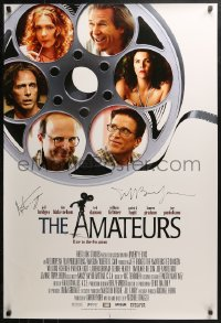 3y0009 AMATEURS signed DS 1sh 2005 by BOTH director Michael Traeger AND Jeff Bridges!