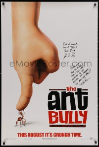 3y0012 ANT BULLY signed teaser DS 1sh 2006 by BOTH director John A. Davis AND Keith Alcorn!