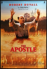 3y0013 APOSTLE signed 1sh 1998 by star/director Robert Duvall, the hardest soul to save was his own!