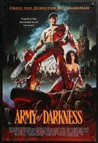 3y0014 ARMY OF DARKNESS signed 1sh 1993 by Bruce Campbell, John Bolton art, Sam Raimi cult classic!