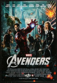 3y0016 AVENGERS signed advance DS 1sh 2012 by director Joss Whedon, great Marvel Comics cast montage!