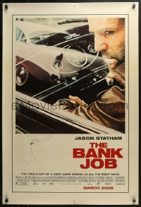 3y0018 BANK JOB signed advance DS 1sh 2008 by Jason Statham, a story of a heist gone wrong!