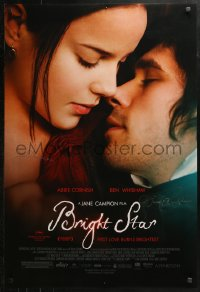 3y0022 BRIGHT STAR signed DS 1sh 2009 by director Jane Campion, Jan Chapman, AND Ben Whishaw!
