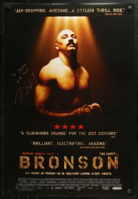 3y0023 BRONSON signed DS 1sh 2009 by director Nicolas Winding Refn, Tom Hardy as Charles Bronson!
