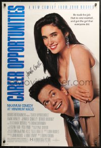 3y0026 CAREER OPPORTUNITIES signed DS 1sh 1991 by Jennifer Connelly, a John Hughes romantic comedy!