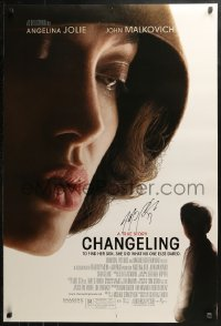 3y0027 CHANGELING signed DS 1sh 2008 by writer J. Michael Straczynski, directed by Clint Eastwood!