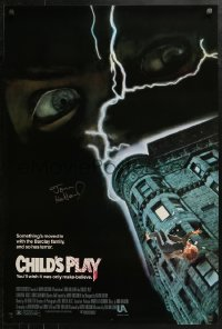 3y0028 CHILD'S PLAY signed 1sh 1988 by director Tom Holland, you'll wish it was only make-believe!