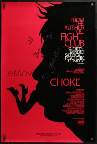 3y0029 CHOKE signed advance DS 1sh 2008 by Anjelica Huston, Rockwell, Gregg, Palahniuk, AND Henke!