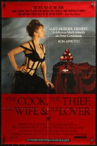 3y0030 COOK, THE THIEF, HIS WIFE & HER LOVER signed 1sh 1990 by Helen Mirren, directed by Greenaway!
