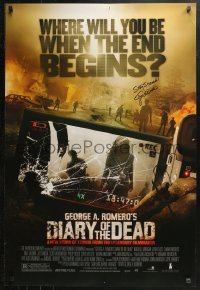 3y0032 DIARY OF THE DEAD signed DS 1sh 2007 by George A. Romero, cool apocalyptic image!