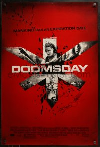 3y0034 DOOMSDAY signed DS 1sh 2008 by director Neil Marshall, Tyler Bates AND Axelle Carolyn!