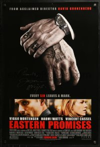 3y0036 EASTERN PROMISES advance DS 1sh 2007 by Viggo Mortensen, cool image of tattooed hands!