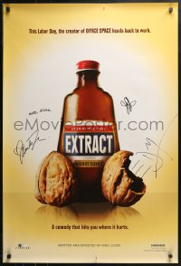 3y0038 EXTRACT signed teaser DS 1sh 2009 by Mike Judge, Jason Bateman, Mila Kunis AND Milligan!