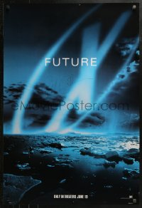 3y0003 X-FILES signed 3 teaser 1sheets 1998 by David Duchovny, Gillian Anderson, Carter AND Spotnitz!