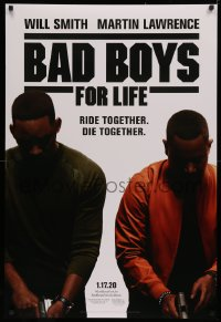 4a0730 BAD BOYS FOR LIFE white background style teaser DS 1sh 2020 Will Smith, Martin Lawrence!