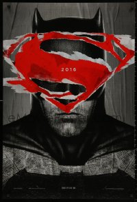 4a0743 BATMAN V SUPERMAN teaser DS 1sh 2016 close up of Ben Affleck in title role, see it in 3D!