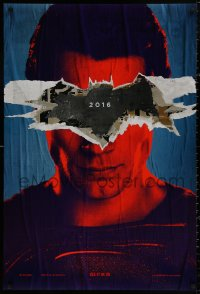 4a0744 BATMAN V SUPERMAN teaser DS 1sh 2016 close up of Henry Cavill in title role, see it in 3D!