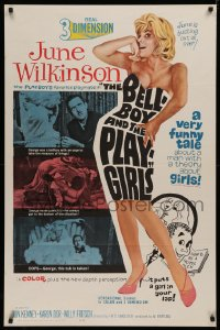 4a0749 BELLBOY & THE PLAYGIRLS 1sh 1962 sexy 3D June Wilkinson, Francis Ford Coppola!