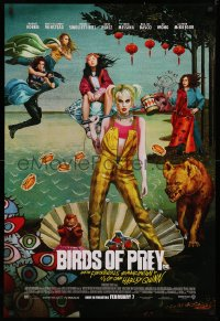 4a0753 BIRDS OF PREY advance DS 1sh 2020 Margot Robbie as Harley Quinn, great surreal artwork!