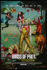4a0755 BIRDS OF PREY int'l advance DS 1sh 2020 Margot Robbie as Harley Quinn, great surreal artwork!