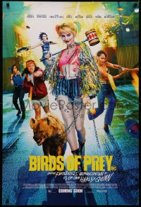 4a0754 BIRDS OF PREY int'l advance DS 1sh 2020 Margot Robbie as Harley Quinn, different!