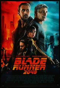 4a0761 BLADE RUNNER 2049 int'l advance DS 1sh 2017 more colorful montage image of Ford and Gosling!