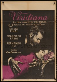 4a0004 VIRIDIANA Colombian poster 1961 directed by Luis Bunuel, Silvia Pinal & Francisco Rabal!