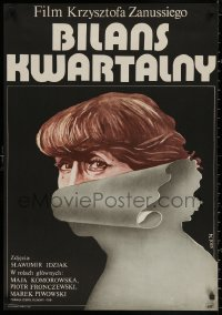 4a0030 WOMAN'S DECISION Polish 23x33 1975 Krzysztof Zanussi, really cool art by Jakub Erol!