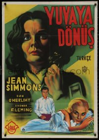 4a0009 HOME BEFORE DARK Turkish 1958 pretty untouched Jean Simmons is a wife on the rim of insanity!