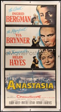 4b0002 ANASTASIA linen 3sh 1956 great Ingrid Bergman, magnificent Yul Brynner, incomparable Helen Hayes!