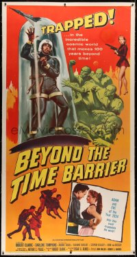 4b0007 BEYOND THE TIME BARRIER linen 3sh 1959 Adam & Eve of the year 2024 repopulating the world!