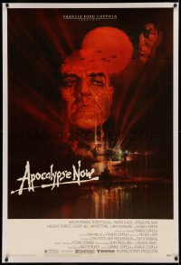4b0038 APOCALYPSE NOW linen 1sh 1979 Francis Ford Coppola, classic Bob Peak art of Brando and Sheen!
