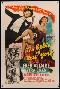 4b0050 BELLE OF NEW YORK linen 1sh 1952 great image of Fred Astaire & sexy Vera-Ellen dancing!