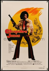 4b0076 CLEOPATRA JONES linen 1sh 1973 dynamite Tamara Dobson in fur is the hottest super agent ever!