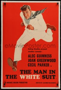 4c0199 MAN IN THE WHITE SUIT linen English double crown 1951 Alec Guinness Ealing classic, very rare!