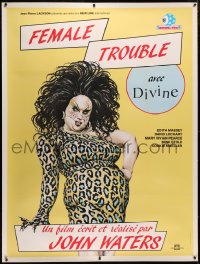 4c0027 FEMALE TROUBLE linen video French 1p R1980s John Waters, Divine, extraordinary perversity!
