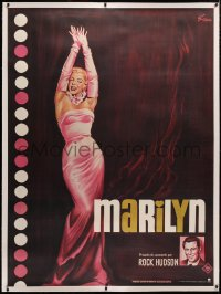 4c0033 MARILYN linen French 1p R1982 sexy full-length art of young Monroe by Boris Grinsson!