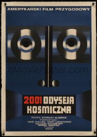 4c0175 2001: A SPACE ODYSSEY linen Polish 23x33 1973 Stanley Kubrick, different art by Wiktor Gorka!