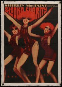 4c0188 SWEET CHARITY linen Polish 22x32 1970 Bob Fosse, different art of dancers by Wiktor Gorka!