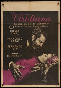 4j0006 VIRIDIANA Colombian poster 1961 directed by Luis Bunuel, Silvia Pinal & Francisco Rabal!