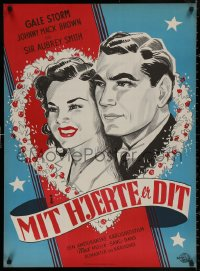 4j0009 FOREVER YOURS Danish 1946 different artwork of Gale Storm & Johnny Mack Brown!