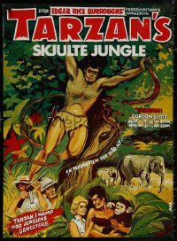 4j0011 TARZAN'S HIDDEN JUNGLE Danish R1970s cool artwork of Gordon Scott as Tarzan, Zippy!