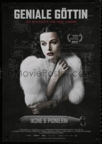 4j0014 BOMBSHELL: THE HEDY LAMARR STORY German 2018 great close-up of her wearing fur!